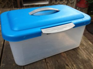 Small clear plastic worm bin for kids