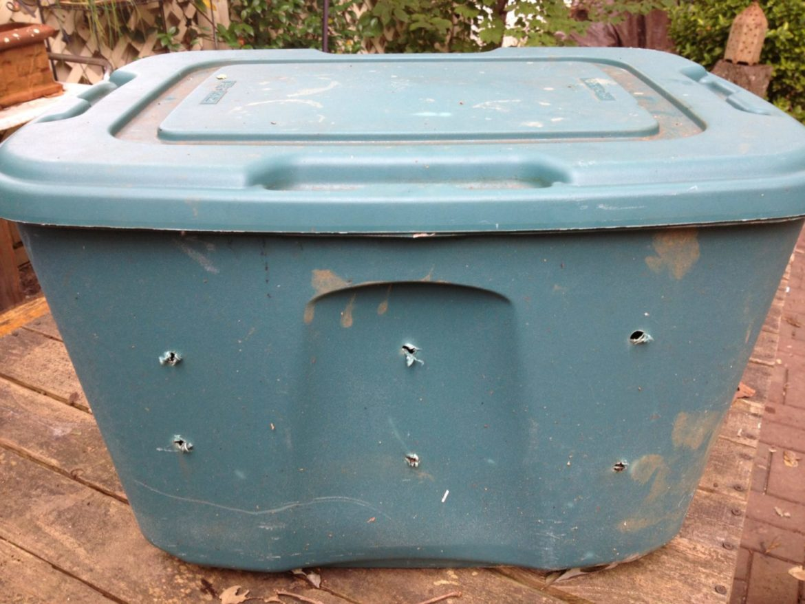 Should you drill drainage holes in the bottom of your worm composting bin?